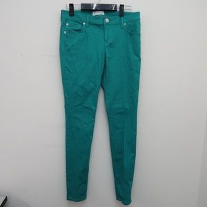Express Women's Green Skinny Stretch Jeans Size 4